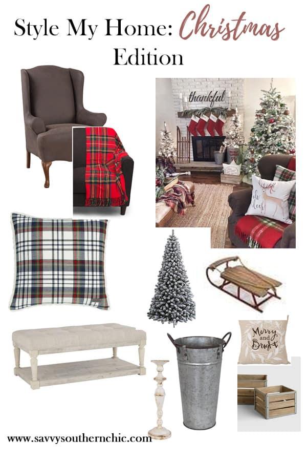 style my home, Christmas living room, Christmas decor