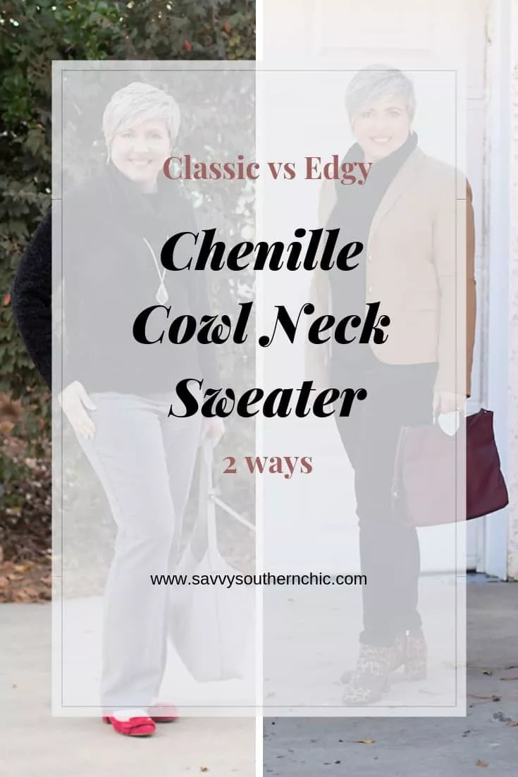 cowl neck sweater two ways