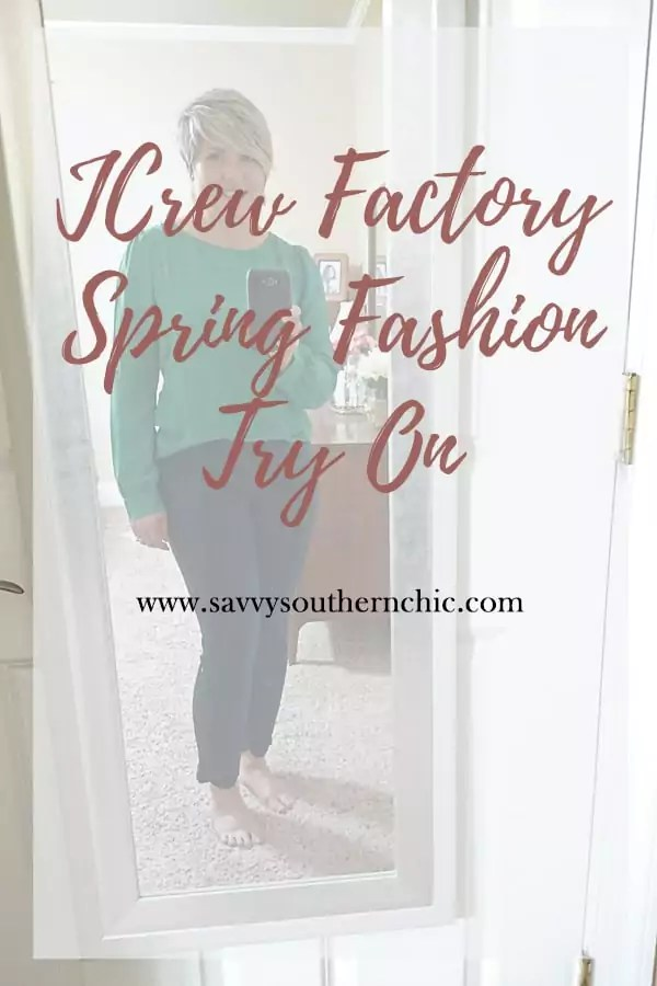 jcrew factory spring fashion try on