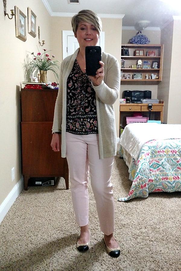 blush pants spring trend