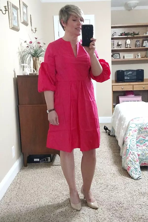 coral spring/Easter dress for less than $20