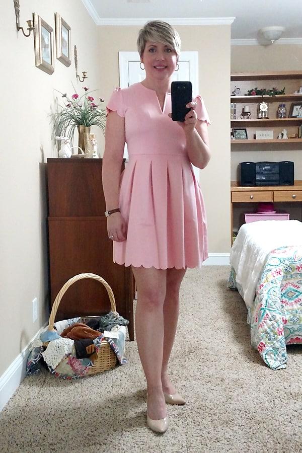 scallop skater dress