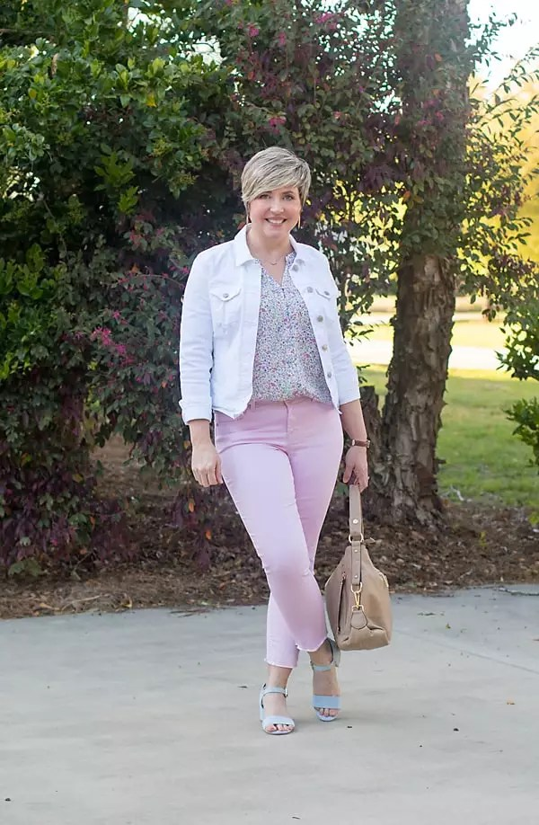 lilac colored jeans for spring