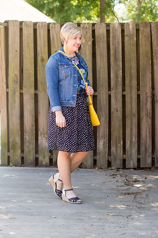 denim skirt outfit, questions and answers