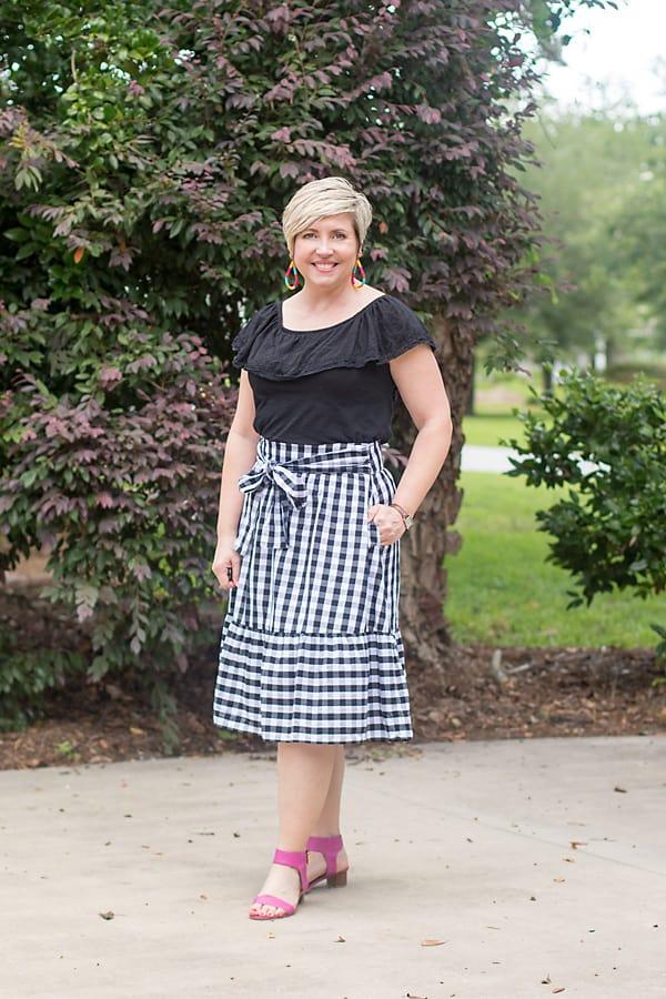 summer skirt outfit