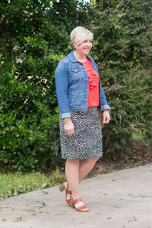 leopard pencil skirt outfit