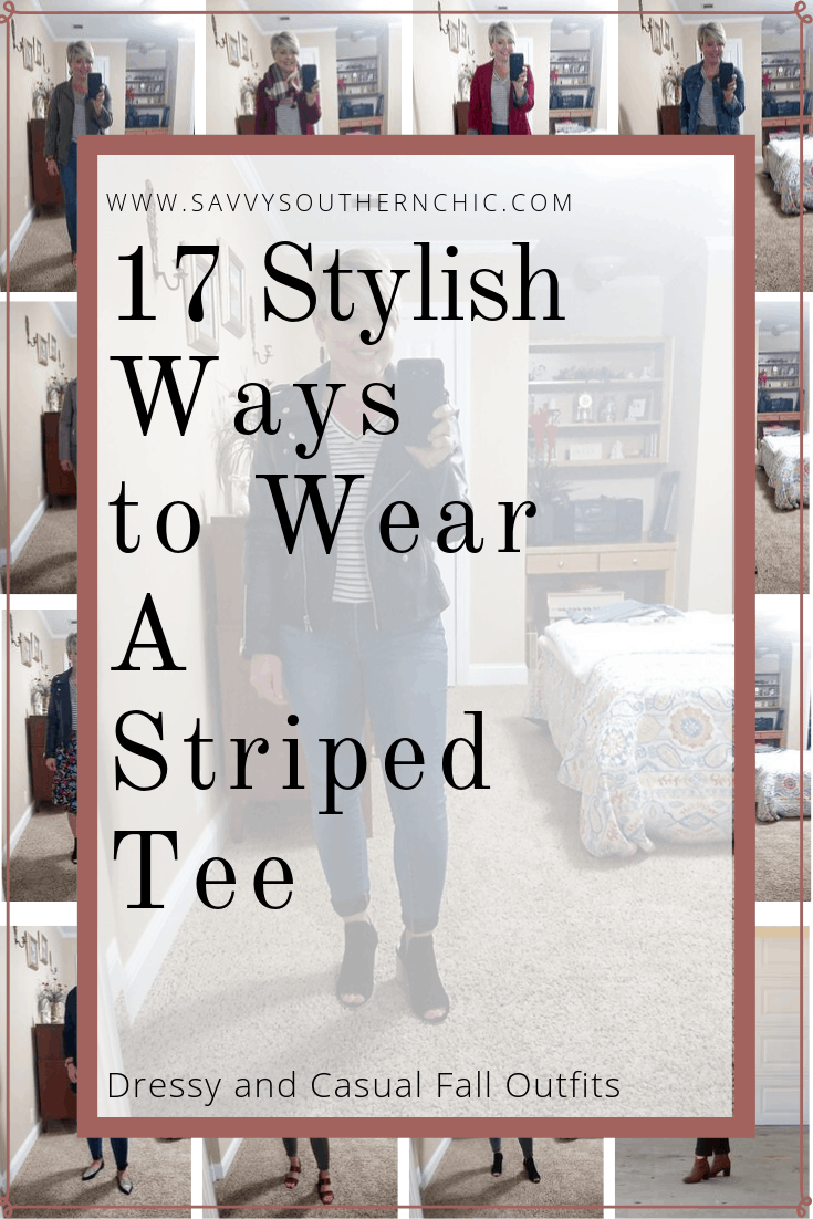 17 ways to wear a striped tee
