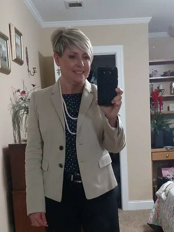 save money on clothing by shopping second hand. Ann Taylor blazer via Thred Up.