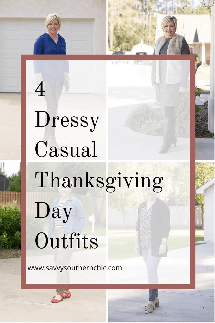 Dressy casual Thanksgiving day outfits