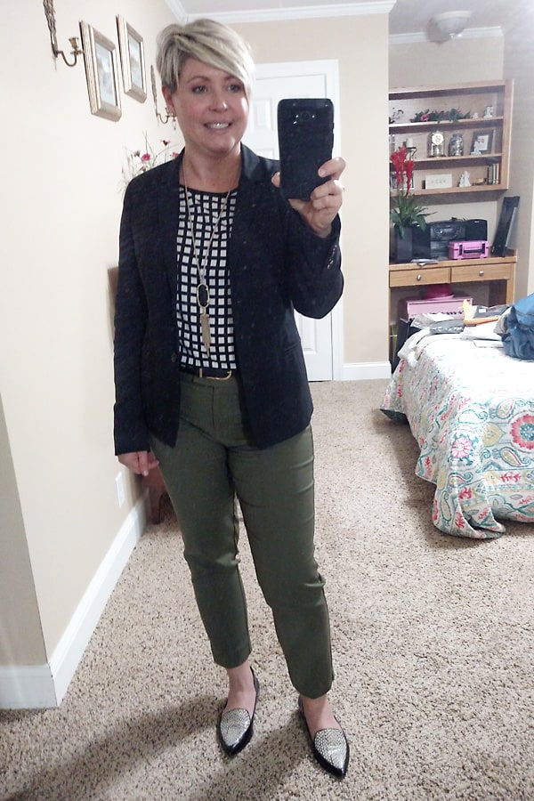 olive ankle pants for work