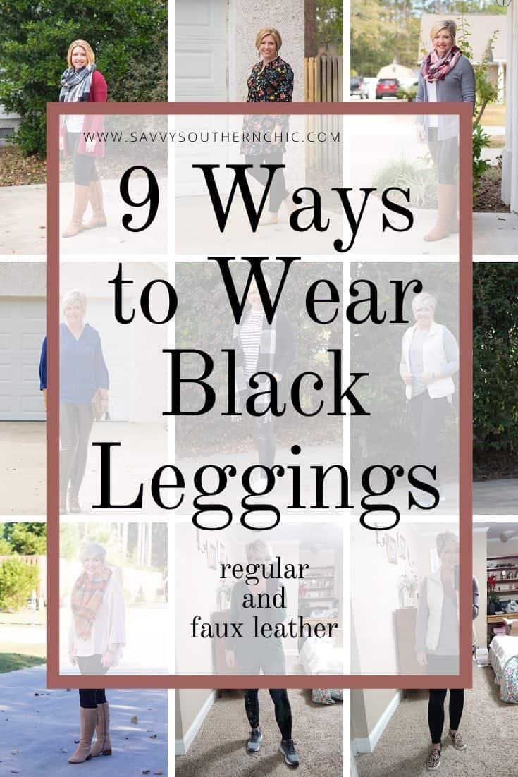 9 Ways to wear black leggings