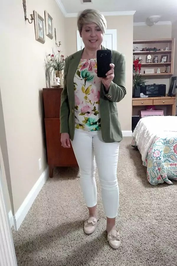 business casual spring work outfit/ work from home outfit