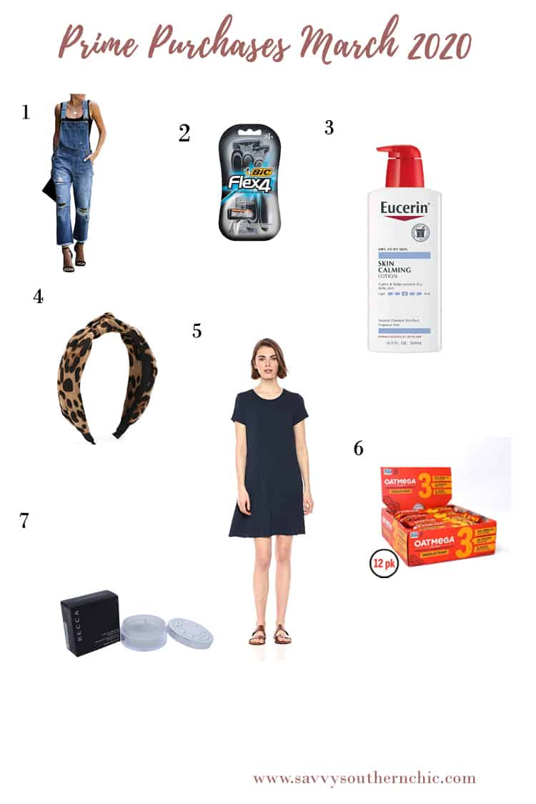 March Amazon Prime purchases- beauty, personal care, fashion