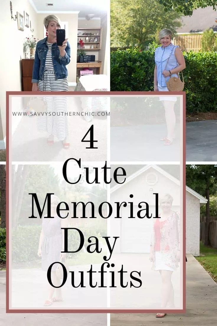 4 cute Memorial Day outfits, Red, white and blue