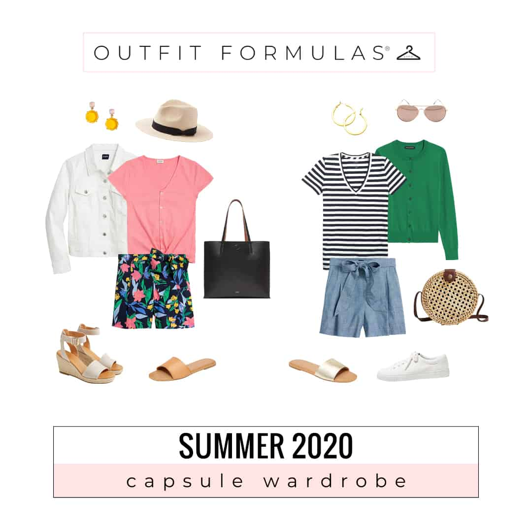 Summer 2020 capsule wardrobe outfit formulas