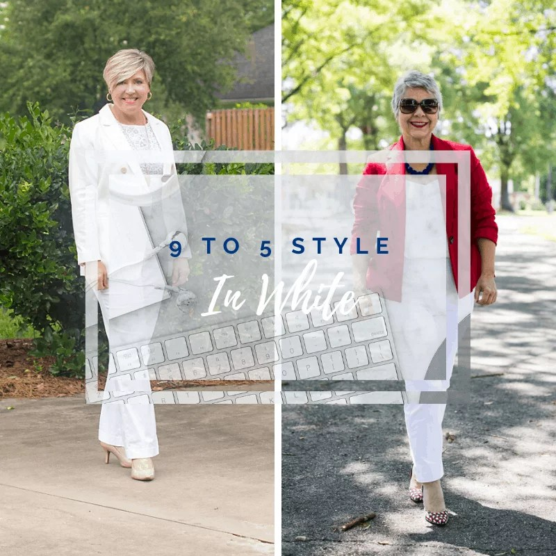9 to 5 style office outfits in white