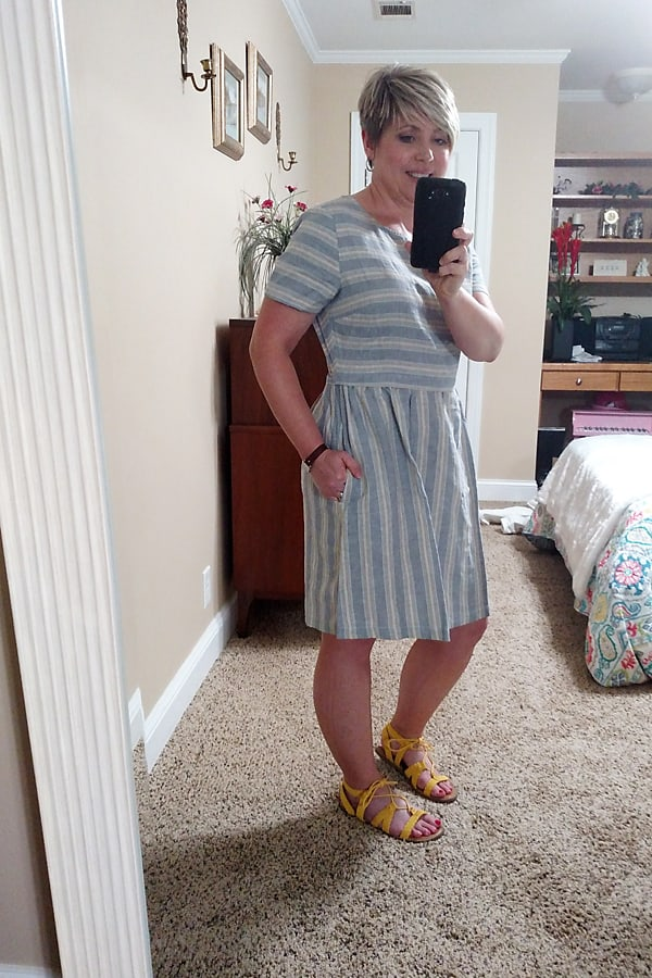 Summer dresses and skirts you need. This linen/cotton blend dress is perfect for summer.