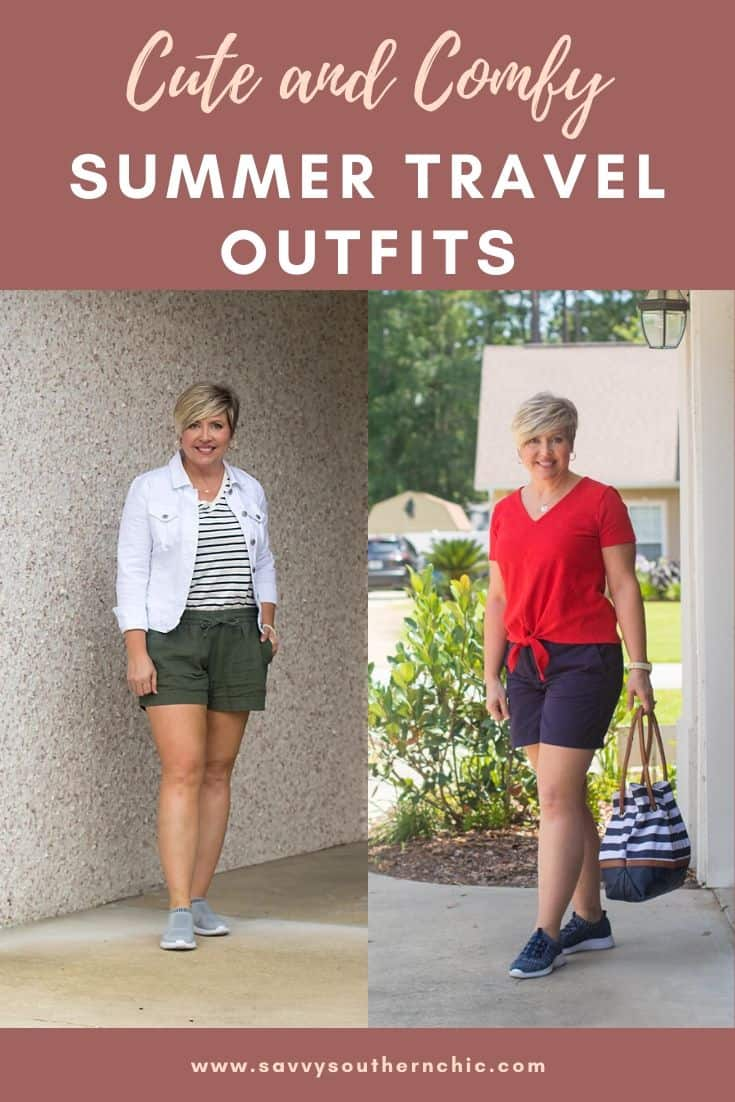 cute and comfy summer travel outfits
