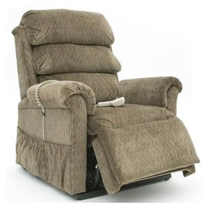 Pride 660 Mini Lounger Lift Chair almond reading