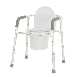 Deep Seat Aluminum Commode