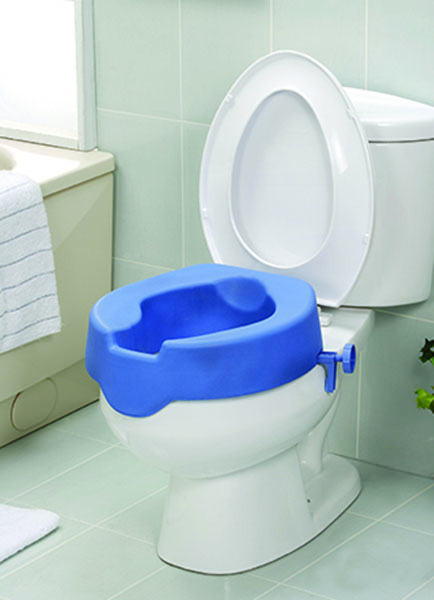 Soft Toilet Seat Riser Made From Polyurethane And Foam