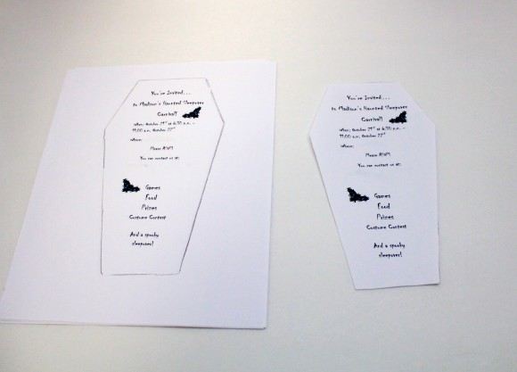 How to make a Coffin Halloween Party Invitations