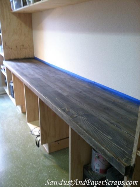 DIY Wood Workshop Countertops