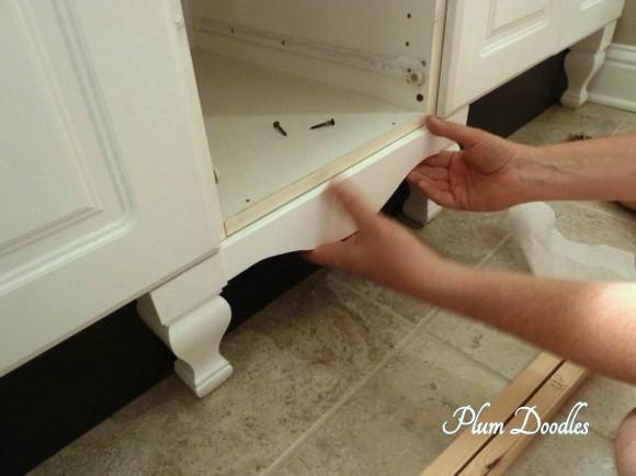 Make a Bathroom Vanity look like a Custom Piece of ...