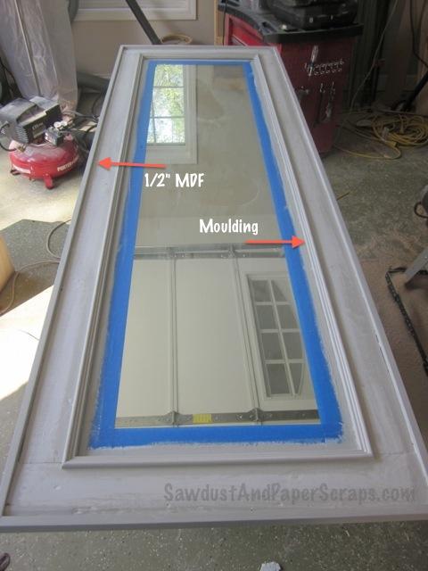Easy DIY framed mirror.