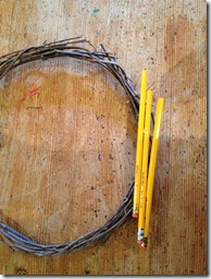 Pencil wreath teacher gift