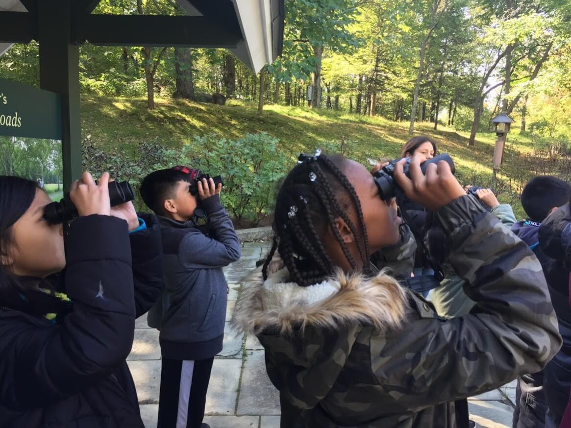Connect Kids to Park field trip at Rockefeller State Park Preserve. Photo: SMRA/Anne Swaim