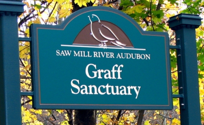 Graff Sanctuary sign on Furnace Dock Road, Town of Cortlandt, New York.