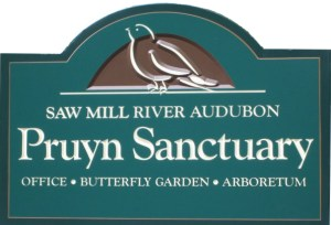 Entrance sign for Pruyn Sanctuary on Route 133-Millwood Road, between Millwood and Mount Kisco, New York. Photo: SMRA/Anne Swaim