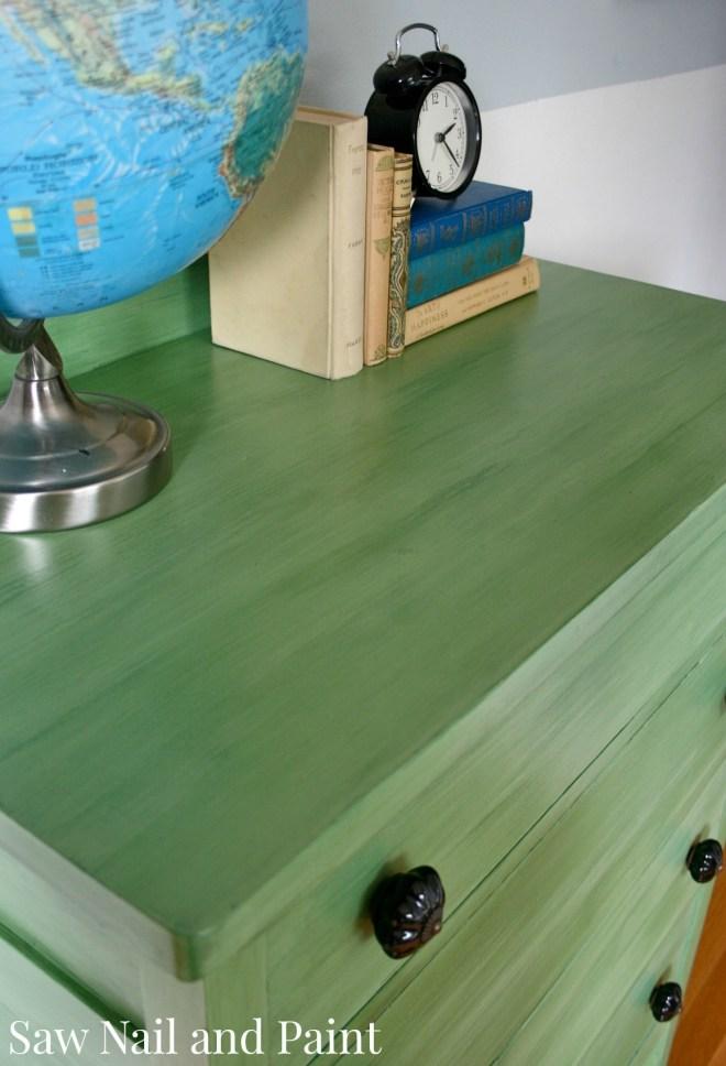 Tavern green dresser top 2