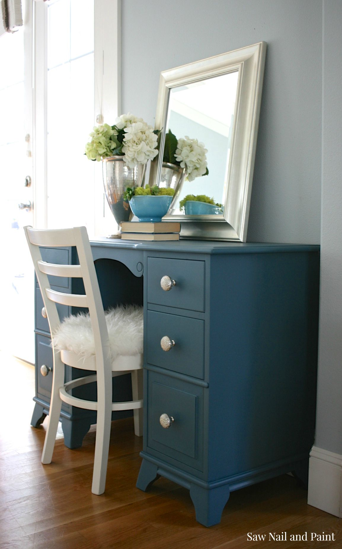 Seaside Blue Vanity Saw Nail And Paint