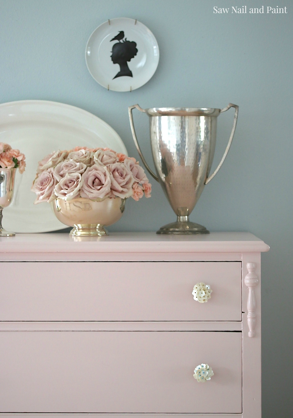 Blush Dresser detail 3