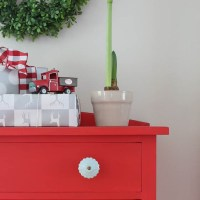 "Vintage Dresser in ""Fort York Red"""