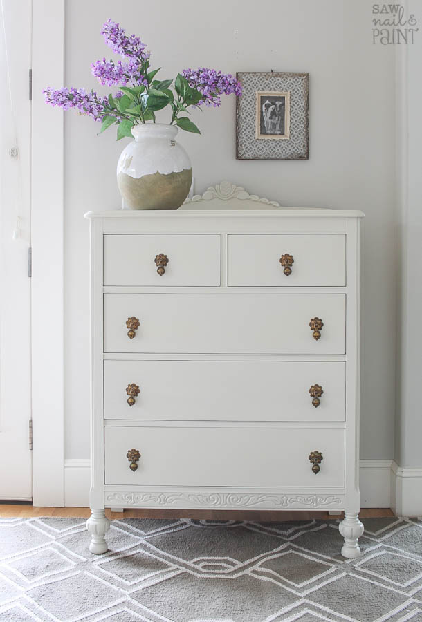 Vintage dresser makeover with Fusion Mineral Paint in Champlain
