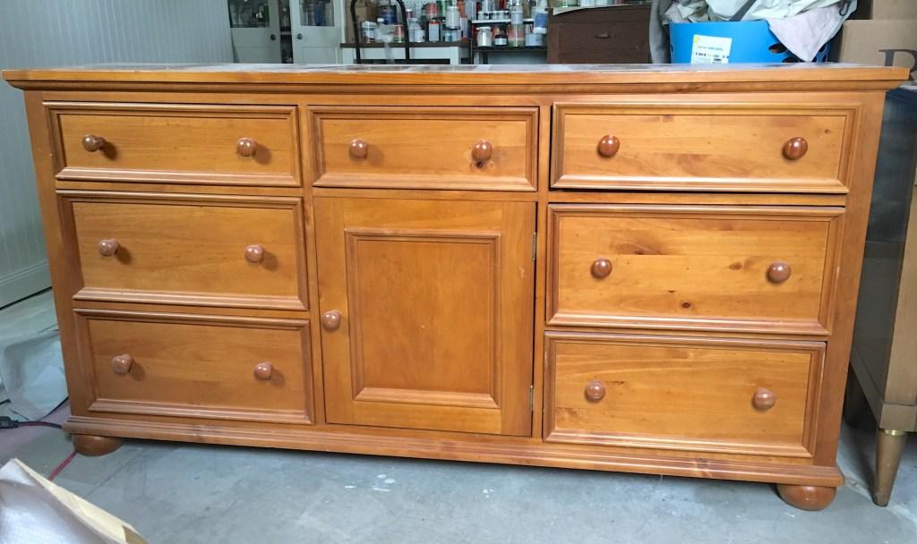 Pine Dresser before Makeover