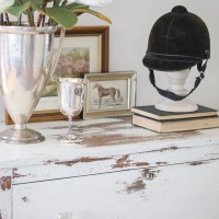 Chippy White Dresser Using Milk Paint