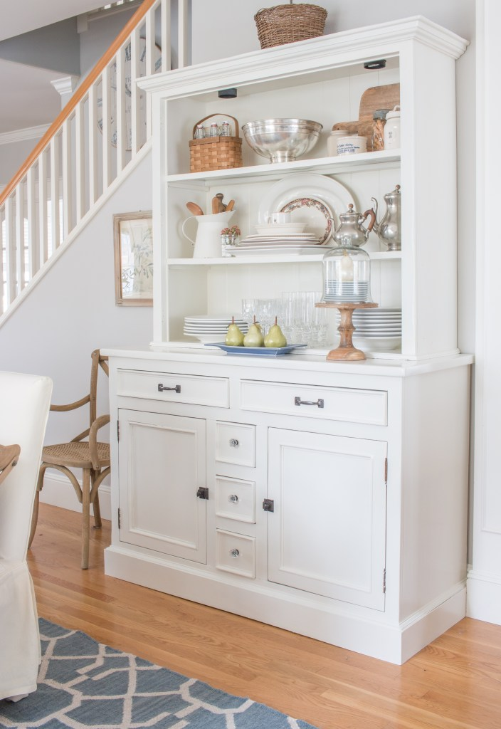 Knotty Pine China Hutch Makeover Saw Nail And Paint