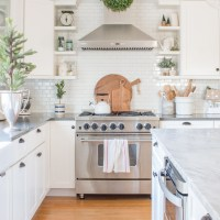 Simple White Christmas Kitchen