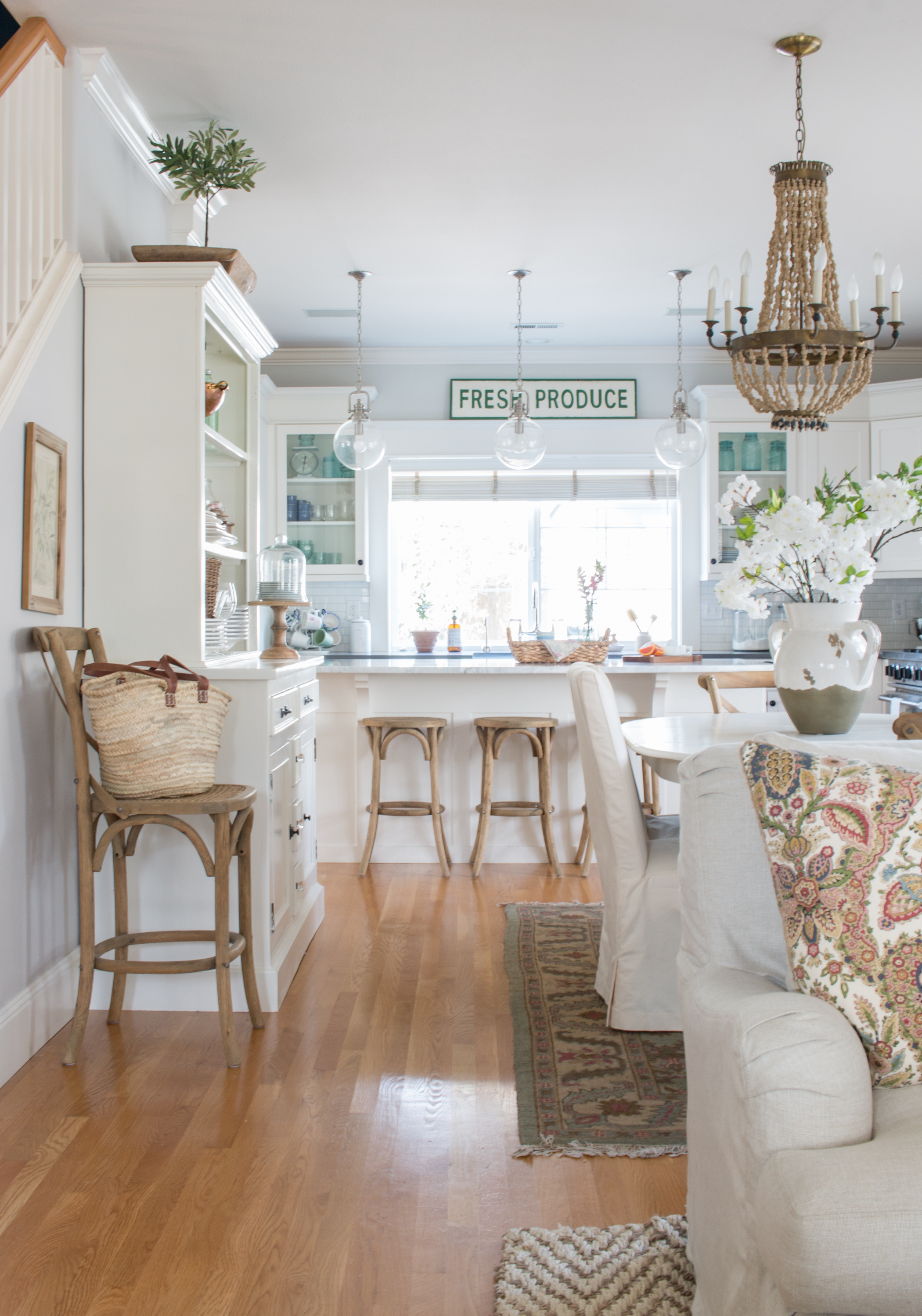 Fresh and Floral Spring Home Tour - Saw Nail and Paint