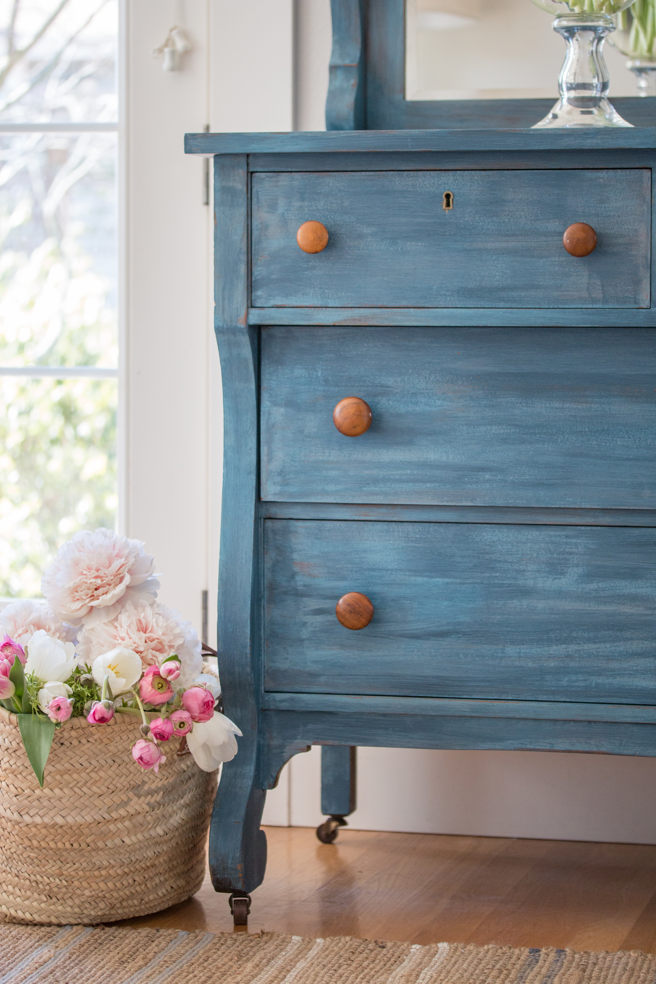Empire Dresser Makeover with Milk Paint   Saw Nail and Paint