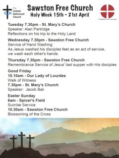 Easter Services - click for full size