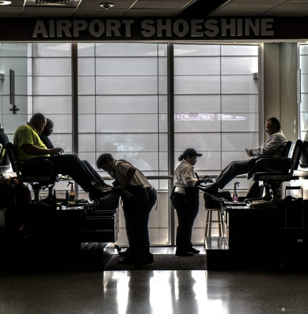 City at Work, Shoeshine, Houston Airport, Calgary