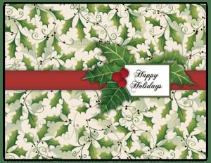 CXM 09 - ribbon holly