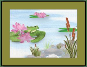 FL 21b - frog and lotus