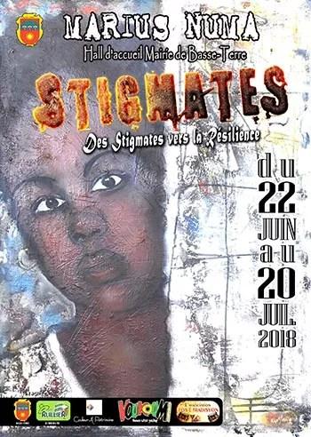 Affiche de l'exposition Stigmates de Marius NUMA