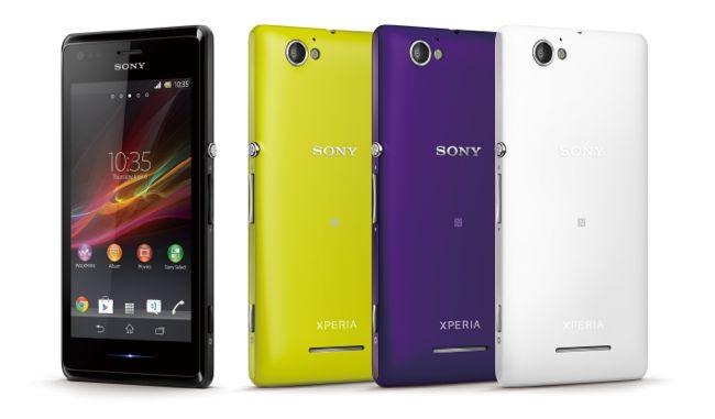 圖1_Xperia M美型 NFC手機,潮流四色酷炫黑、明亮白、螢光黃、魔幻紫全新上市!